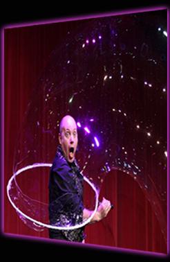 Believe A Bubble Show - Damian putting himself inside a giant bubble